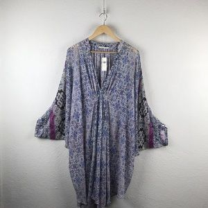 Anthro l Floreat Oversized Floral Boho Cover-up